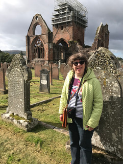 Victoria at Sweetheart Abbey in Scotland
