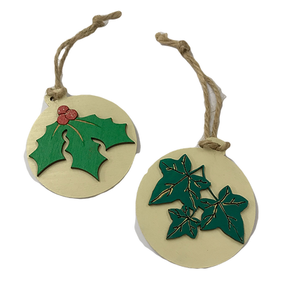 Holly and Ivy Christmas Tree Decorations