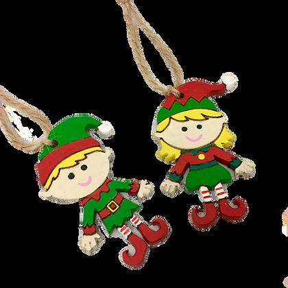 Set of 2 Elf Decorations