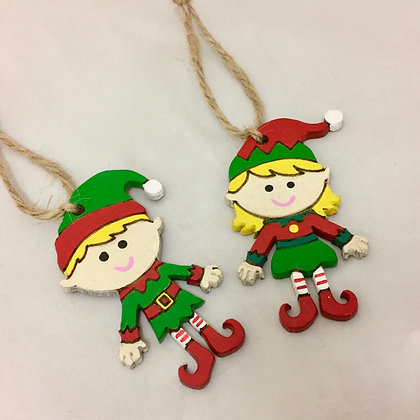 Set of 2 Elf Decorations
