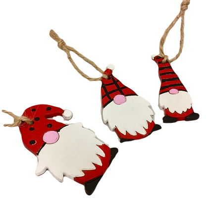 Set of 3 Gnome Decorations