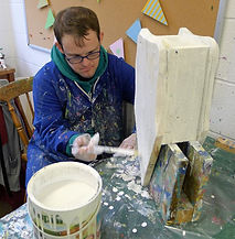 Painting a bird box