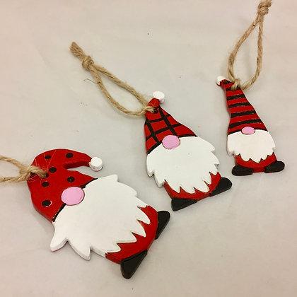 Set of 3 Gnome Decorations