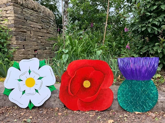 Large Wooden Flowers