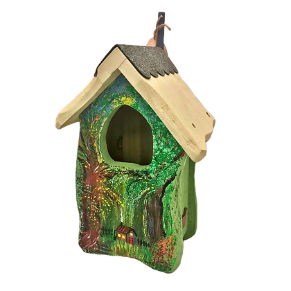 One of a kind bird boxes (Robin)