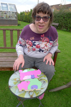 Victoria and her Jigsaw painting