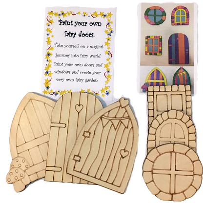 Paint your own fairy doors