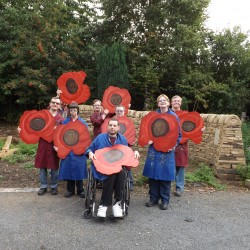 Large Wooden Poppies