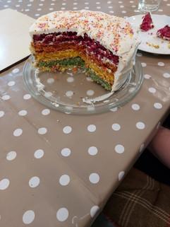 Ryan's rainbow cake
