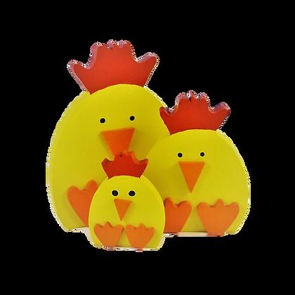 Set of 3 Chicks
