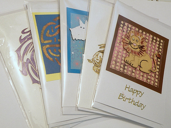 Set of 5 Assorted Birthday Cards