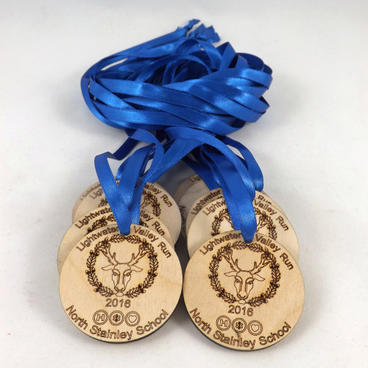 Laser Cut Designed Medals