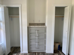 dual closets and built in dresser