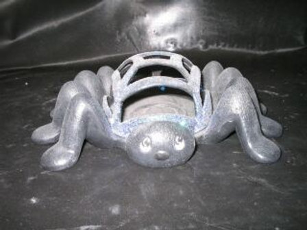Open back spider candle holder