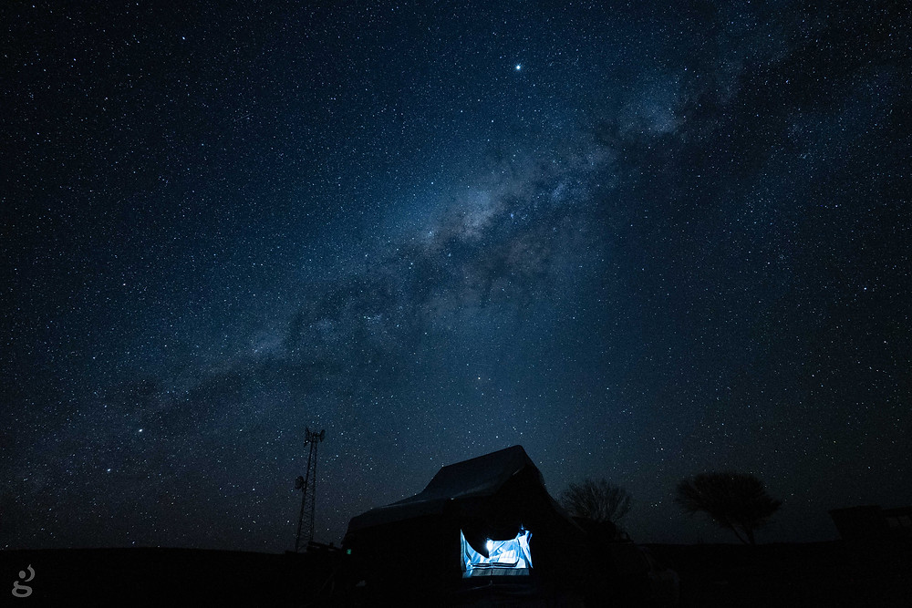 camping in the MacDonnell Ranges astrophotography