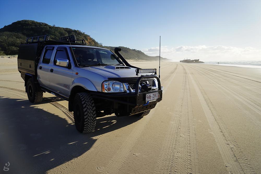 4WDing Maheno Shipwreck Fraser Island
