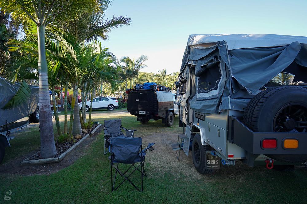camper trailer at NRMA Capricorn Yeppoon Holiday Park