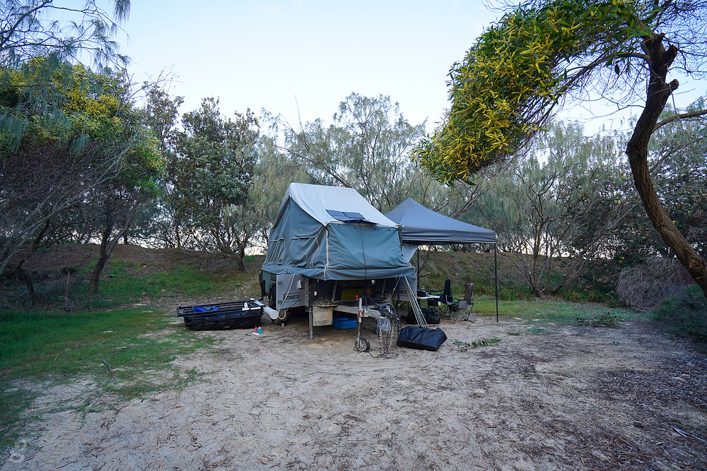 Beach camping on Fraser Island
