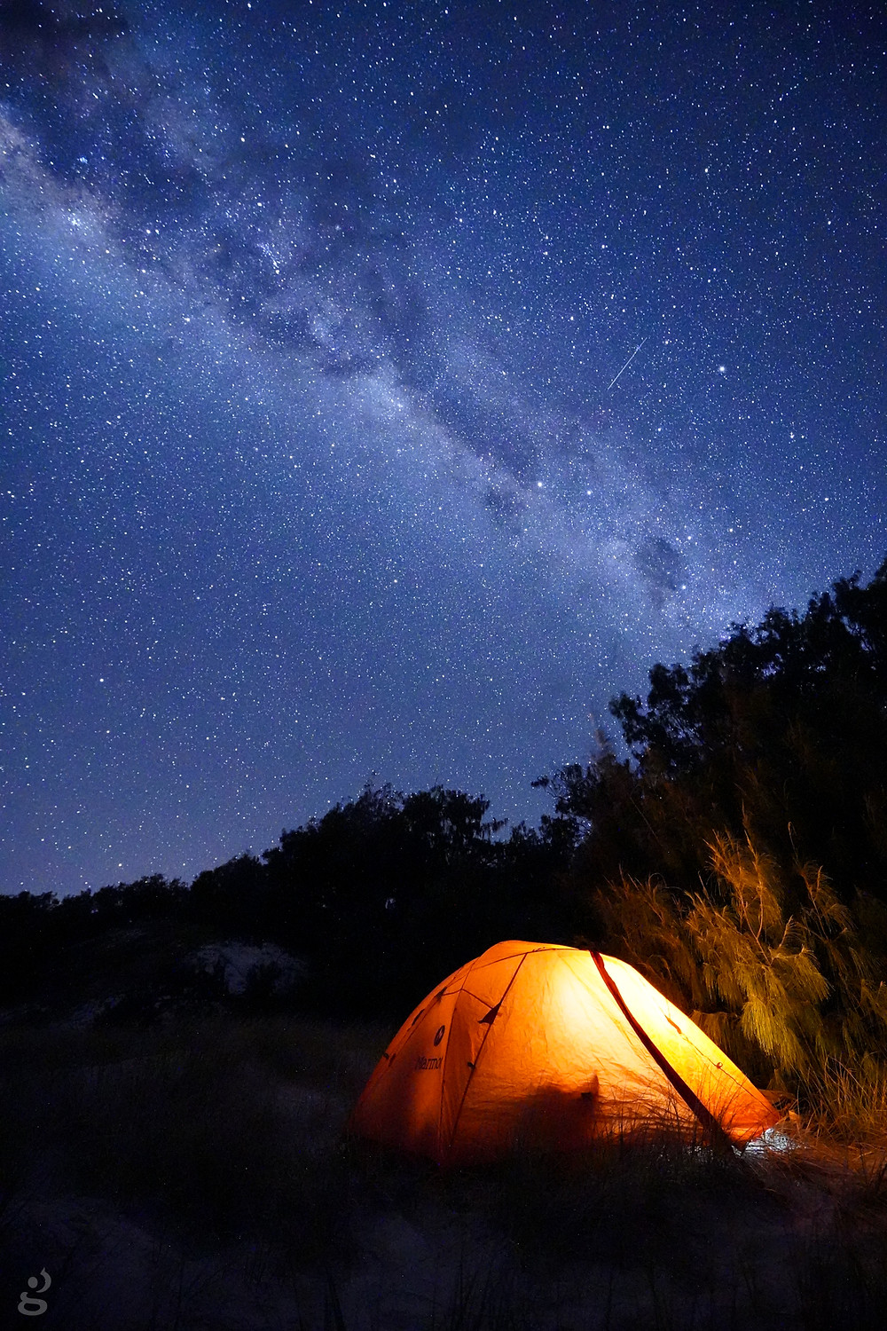 starry skies camping on the Keppel Islands
