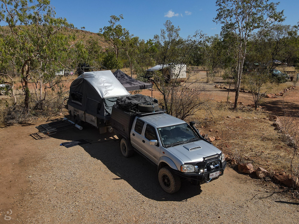 Camping at Lawn Hill National Park campground