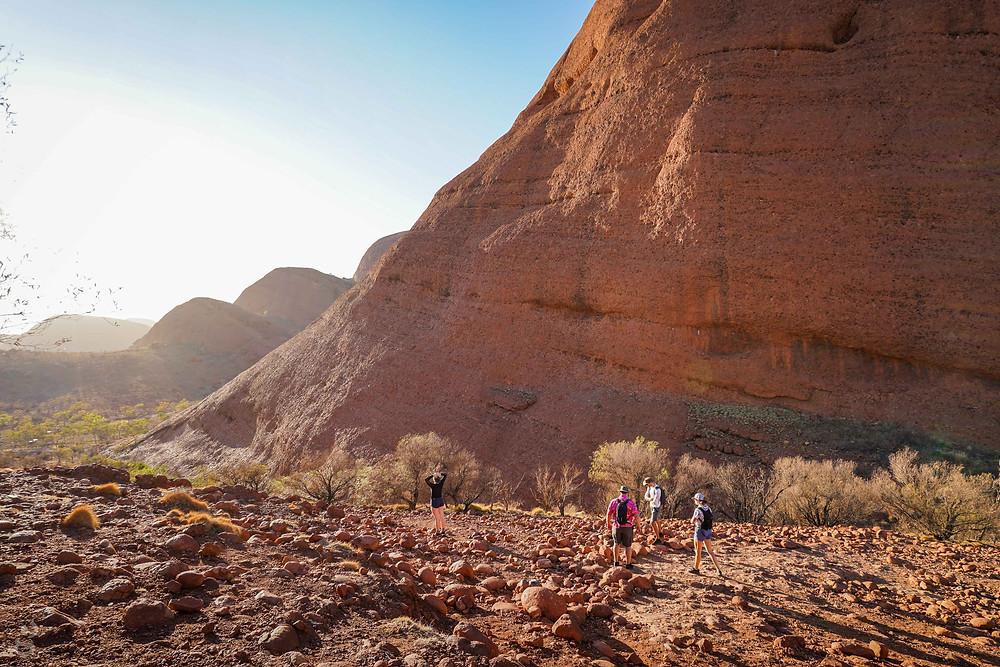 Visiting Uluru-Kata Tjuta National Park hiking Valley of the Winds