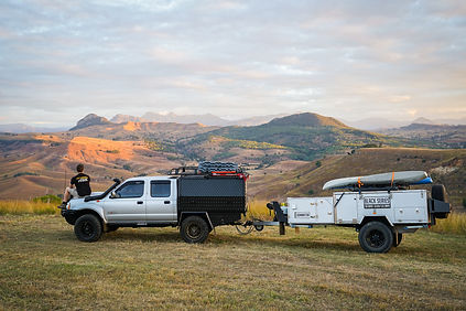 Offroad ute and trailer