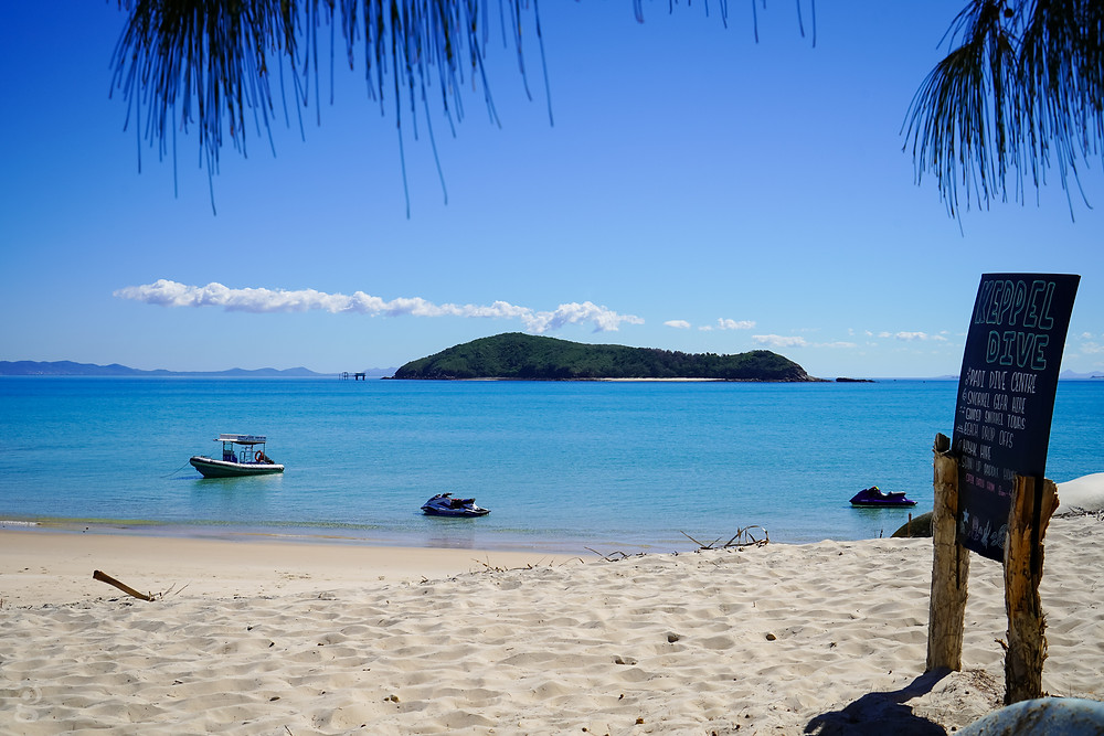 view of Middle Island from Great Keppel Island