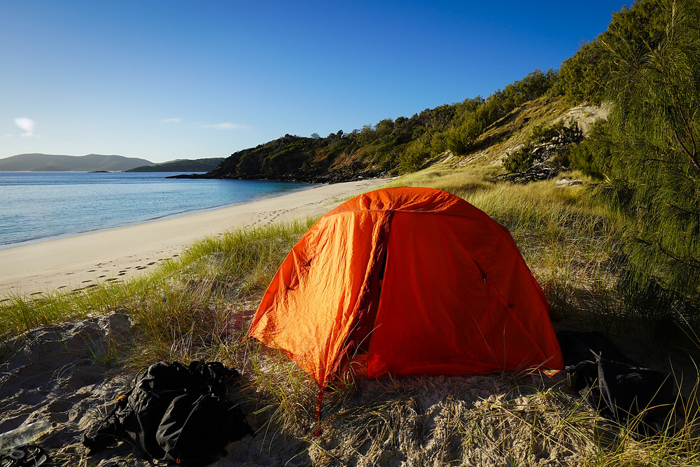 tent camping on the Keppel Islands
