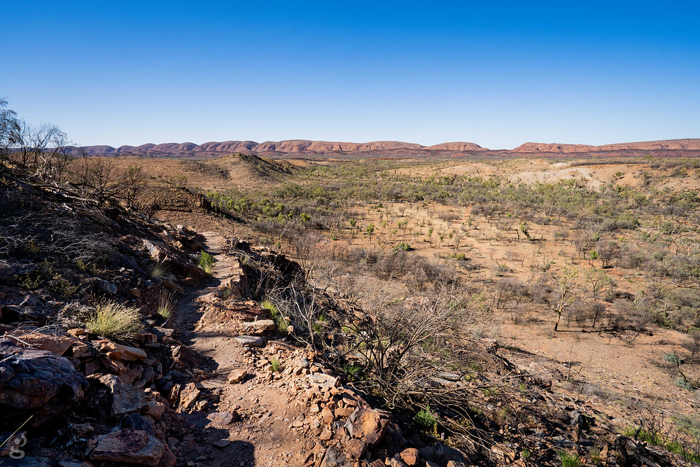 camping in the MacDonnell Ranges Serpentine Gorge trail