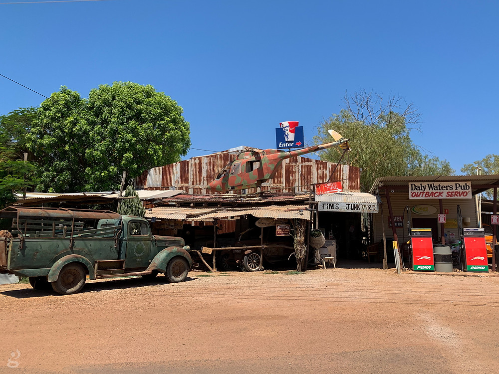 Driving from Alice Springs to Darwin Outback pub