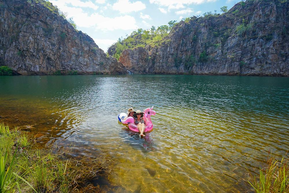 Floating at Edith Falls NT