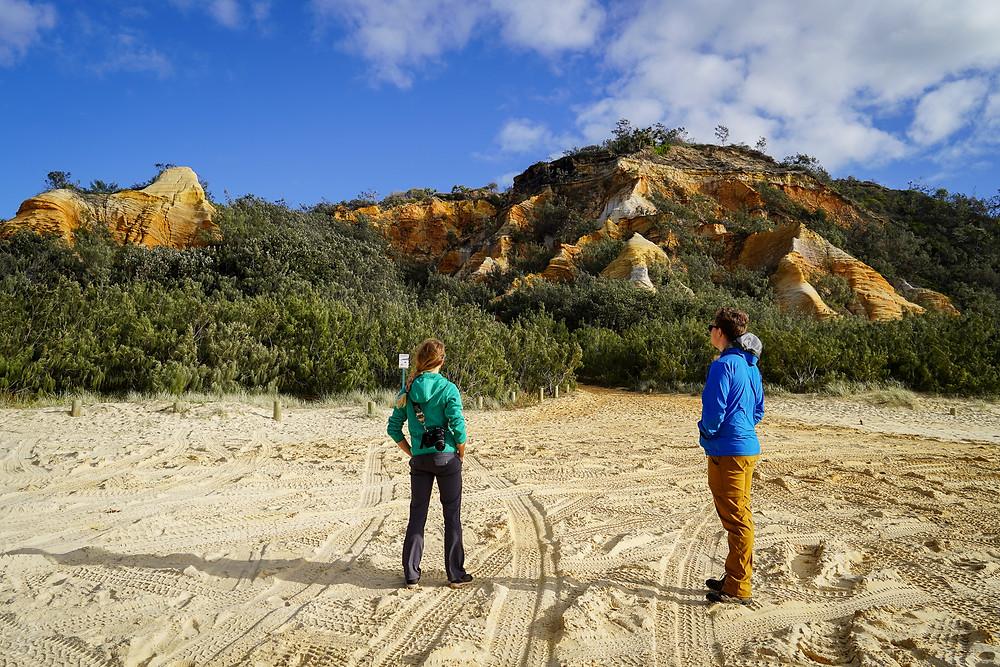 The Pinnacles camping Fraser Island