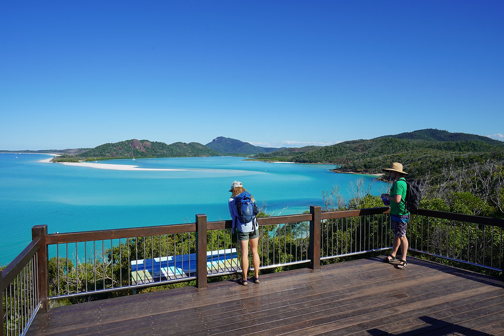 day trips to the Whitsundays Hill Inlet lookout