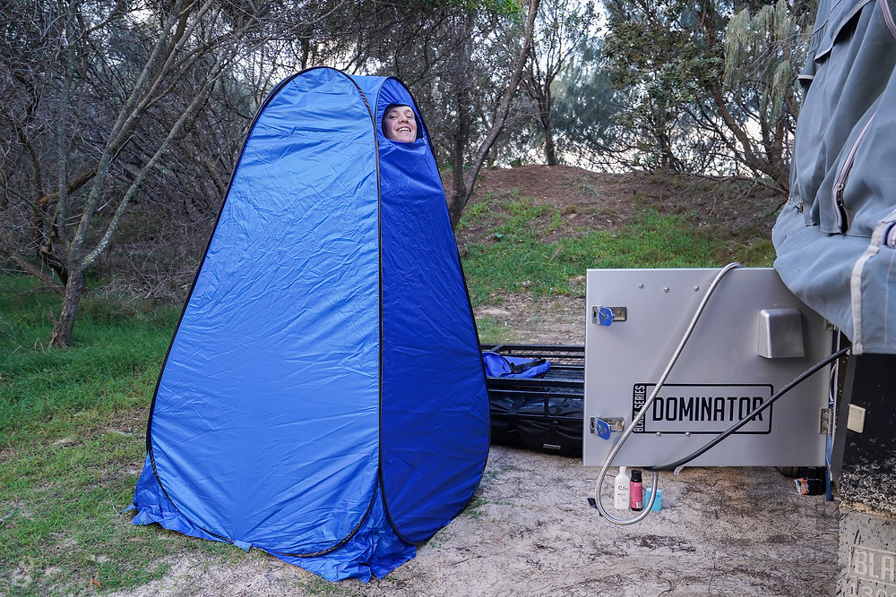 Black Series Dominator modifications shower tent
