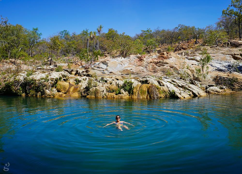 Chillagoe swimming at Bogey Hole