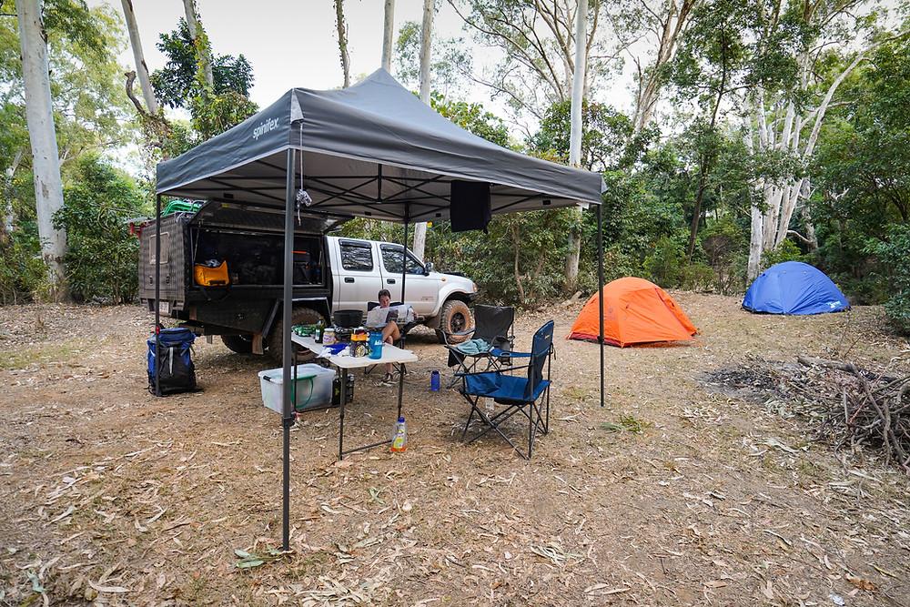 Black Series Dominator camping setup