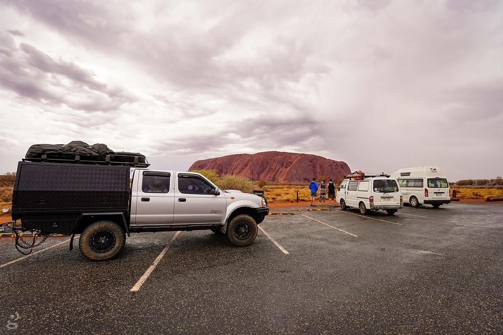 Visiting Uluru-Kata Tjuta National Park Uluru rain storm