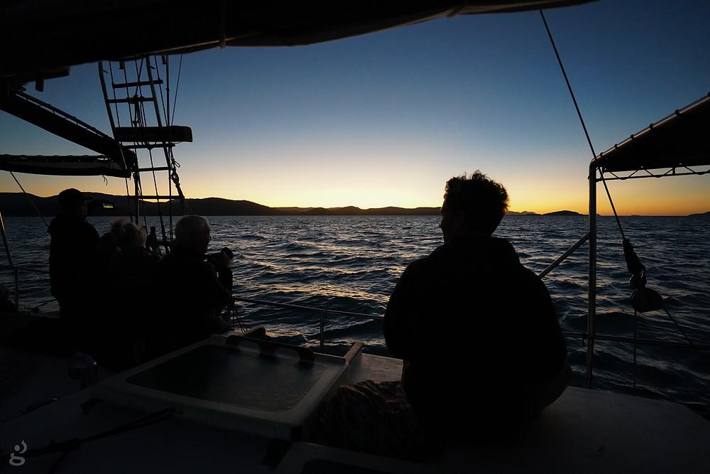 sunset cruise on Providence