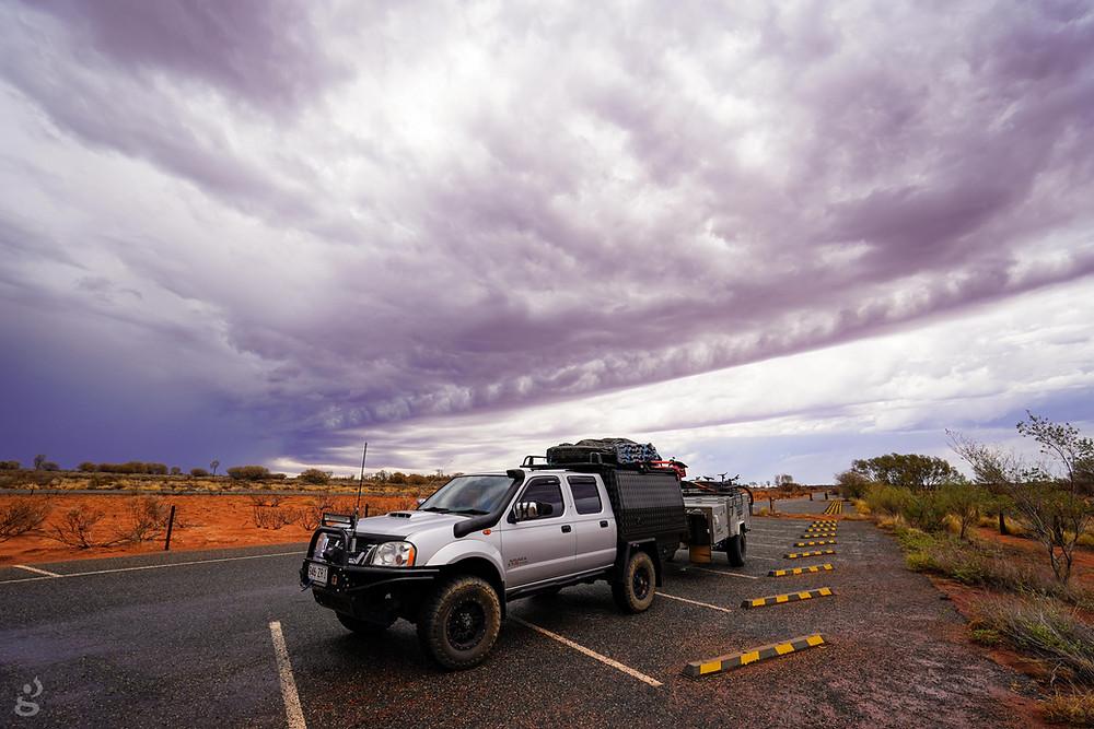 Visiting Uluru-Kata Tjuta National Park storm clouds