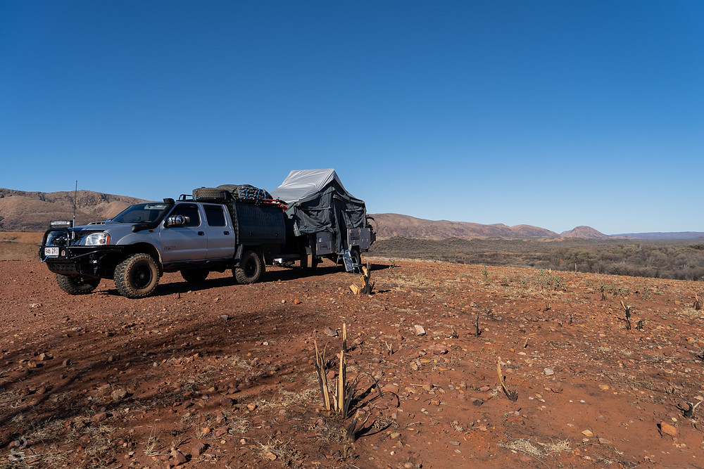 camping in the MacDonnell Ranges Neil Hargrave Lookout