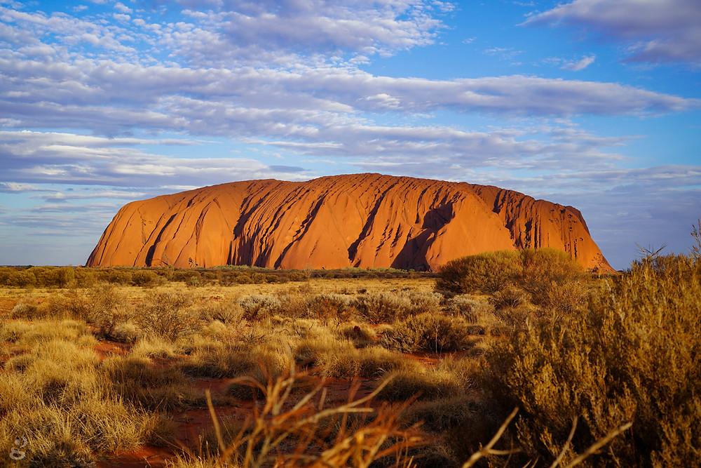 Visiting Uluru-Kata Tjuta National Park at sunset
