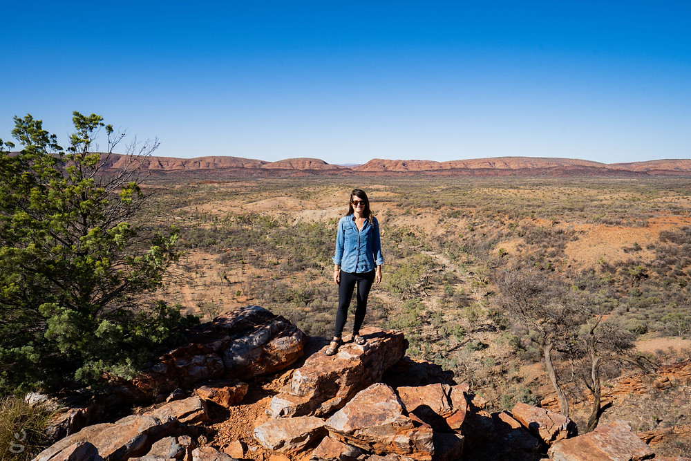 camping in the MacDonnell Ranges Serpentine Gorge lookout trail