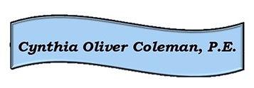 Cynthia Oliver Coleman, P.E. Nameplate.j