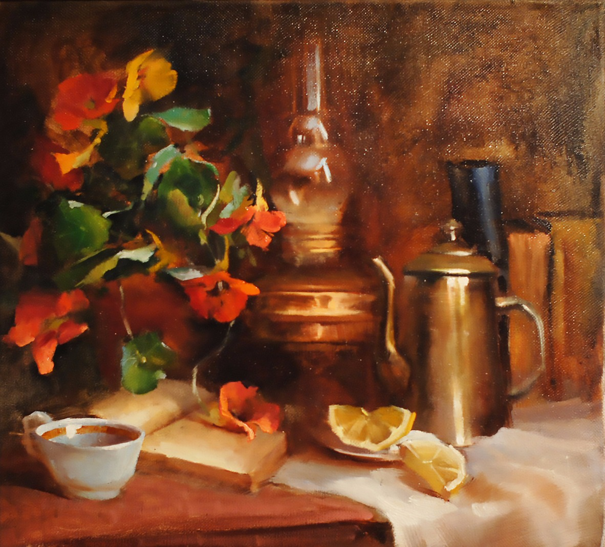 Golden still-life