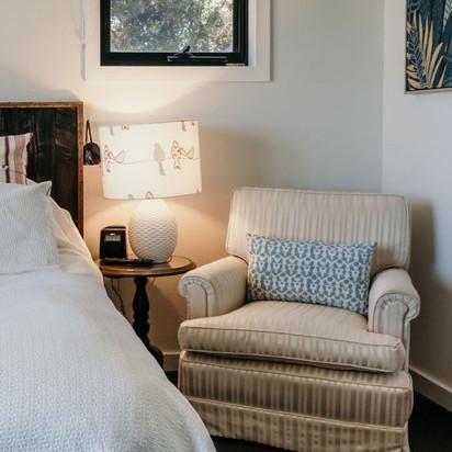 4. large creme armchairs x 2