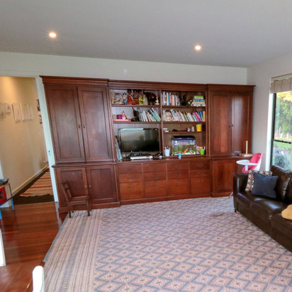 6. HUGE Custom-made Mahogany wall unit <4m wide.