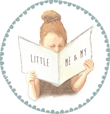 Little Me & My | www.littlemeandmy.com | logo stamp