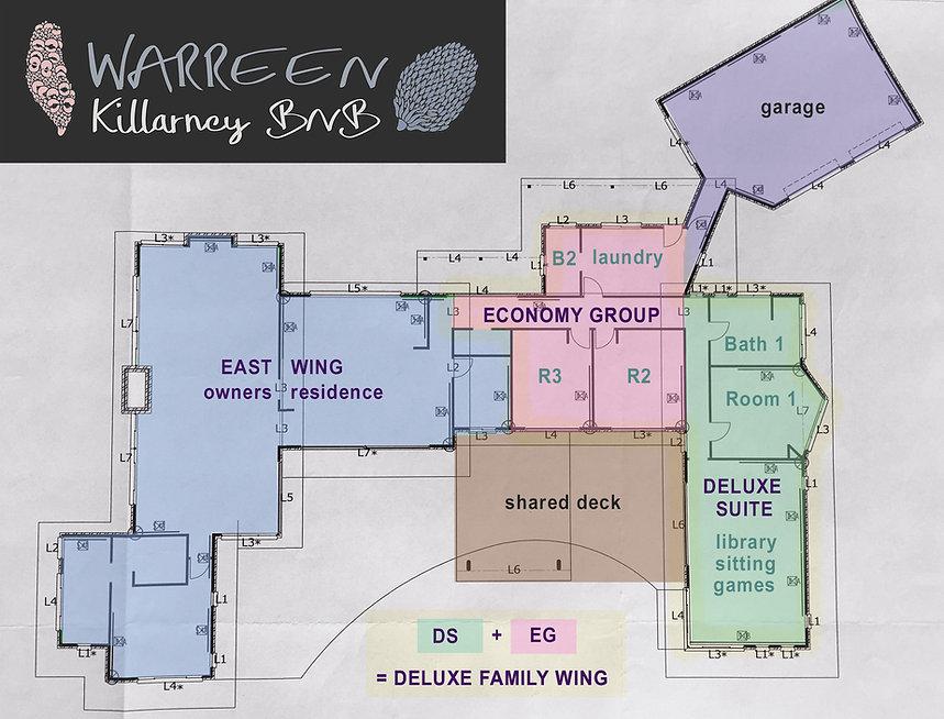Warreen | Killarney BNB | floorplan | www.killarneybnb.com.au