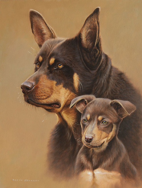Kelpies 'Mother & Son' Card
