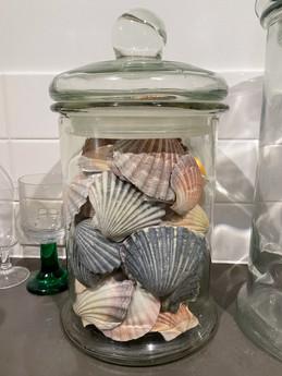 Glass Jar full of shells